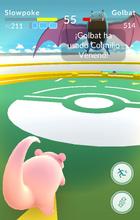 Pokémon GO Combate gimnasio 1