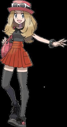 """Serena en <a href=""""/es/wiki/Pok%C3%A9mon_X_y_Pok%C3%A9mon_Y"""" title=""""Pokémon X y Pokémon Y"""">Pokémon X y Pokémon Y</a>"""