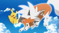 EP1019 Pikachu de Ash usando Cola ferrea
