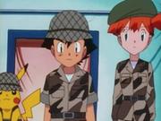 EP135 Ash y Misty disfrazados de militares