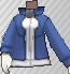 Chaqueta con cremallera Azul