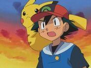 EP293 Ash junto a Pikachu