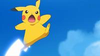 EP948 Pikachu usando cola férrea