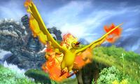 Moltres usando vuelo SSB4 3DS