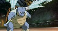 P01 Blastoise usando hidrobomba