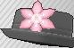 Pin de flor rosa claro