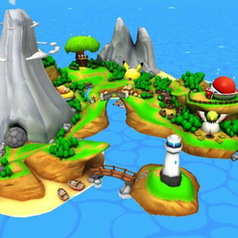 La isla donde se ubica el campamento