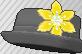 Pin de flor amarillo