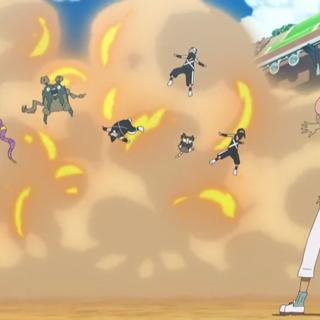 Ilima/Liam observando una explosión de varios miembros del Team Skull.