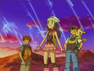 EP476 Brock, Maya y Ash