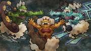 EP721 El trio de las nubes en una pintura rupestres