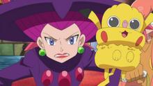 EP885 Inkay disfrazado de Pikachu