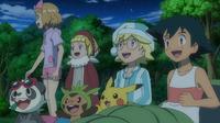 EP901 Ash y sus amigos observando las estrellas