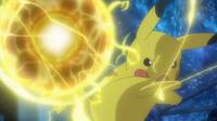 EP925 Pikachu usando bola voltio