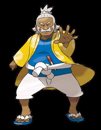 """Ilustración de Kaudan en <a href=""""/es/wiki/Pok%C3%A9mon_Sol_y_Luna"""" title=""""Pokémon Sol y Luna"""" class=""""mw-redirect"""">Pokémon Sol y Luna</a>"""