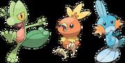 Pokemon iniciales de Hoenn