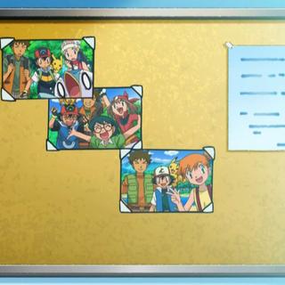 Foto donde aparece Misty y los otros amigos de Ash.