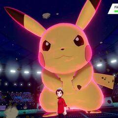 Pikachu con el efecto Dinamax