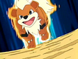 EP404 Growlithe usando derribo