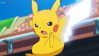 EP1082 Pikachu usando Cola férrea
