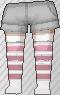 Calcetines de rayas rosa claro
