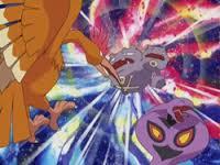 EP282 Fearow usando ataque furia