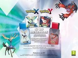 Funda de Nintendo 3DS al reservar Pokémon XY