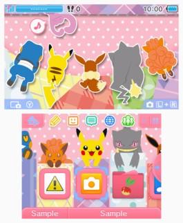 Tema 3DS Pokémon amigos sorpresa