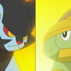 Grotle vs Luxray