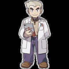 Ilustración del Profesor Oak.