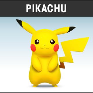 <i>Artwork</i> oficial de Pikachu en el juego.