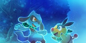 Riolu y Tepig Pokémon Mundo Megamisterioso