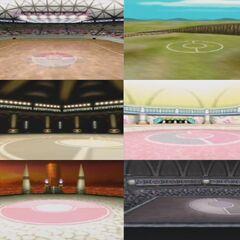 Diseño 3D de los estadios.
