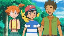 Ash, Misty y Brock en Pokémon Sol y Luna