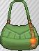 Bolso con flecos verde
