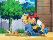 EP557 Raichu escondiéndose de Ash