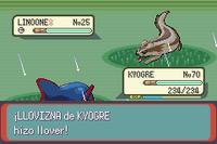Kyogre tiene la habilidad Llovizna