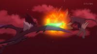 EP936 Pyroar usando colmillo ígneo
