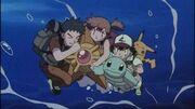 P01 Staryu y Squirtle ayudando a Misty, Ash y Brock