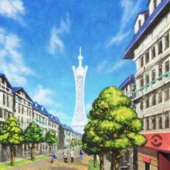 El símbolo de Ciudad Luminalia es la gran torre que se alza en su centro.