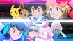 EP908 Serena y Ash vs Miette y James