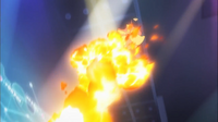 GEN16 Pyroar usando lanzallamas