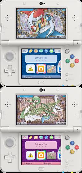 Tema 3DS Pokémon Parejas artísticas