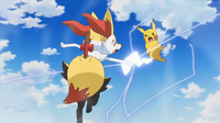 EP941 Braixen VS Pikachu