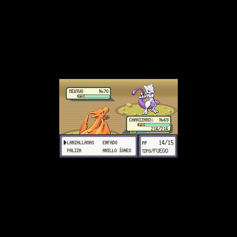 Duelo con Mewtwo en Pokémon Rojo Fuego y Verde Hoja.