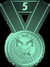 Medalla quinto puesto PD