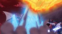 EP937 Mega-Gyarados VS Talonflame y Greninja Ash