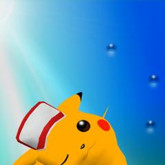 Trofeo de Pikachu versión Smash (2) en Melee.