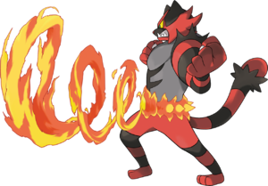 Artwork de Incineroar