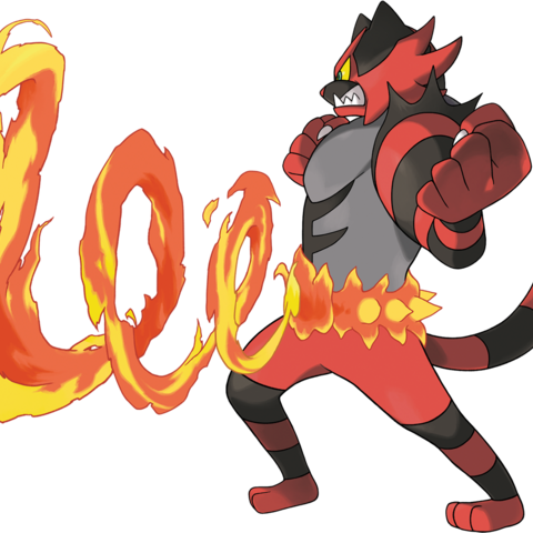 Artwork de Incineroar.
